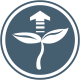 icon of plant with vertical arrow